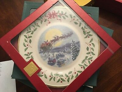 """Lenox for the Holidays Plate 2002 10.5"""" Sealed"""