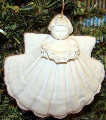 Garland Sea Shell Angel Ornament (Margaret Furlong, 1995) Porcleain