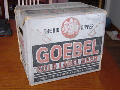 1950s GOEBEL BREWING Detroit MICHIGAN Mich. MI. 32 OZ. beer bottle Delivery CASE