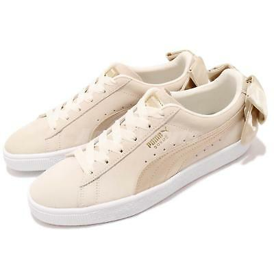 9e9aeb9609e090 Puma Suede Bow Varsity Wns Beige Gold Womens Casual Shoes Sneakers 367732-03