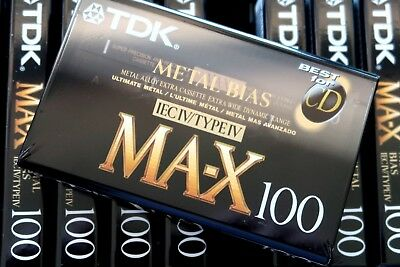 Tdk Ma-X 100 Ultimate Metal Position Type Iv Blank Audio Cassette - 1992