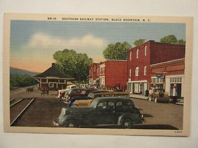 1940 ? Ford Dealership. Black Mountain, NC. 1938 Ford Truck, 1934 Ford postcard