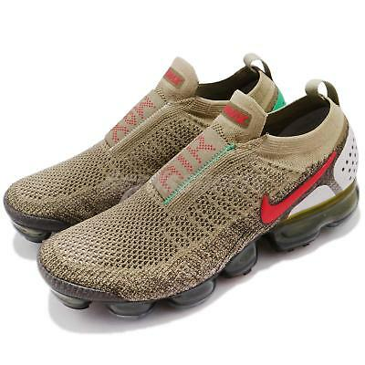 Nike Air Vapormax FK Moc 2 II Flyknit Neutral Olive Red Men Running AH7006-200
