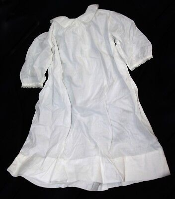 Antique baby dress gown white hand tatted lace edging tatting christening vintag