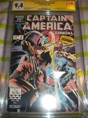 Captain America Annual #8 CGC 9.4 SS  signed by  Michael  Zeck