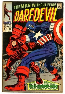 Daredevil #43 (1968) F/VF New Marvel Silver Bronze Collection