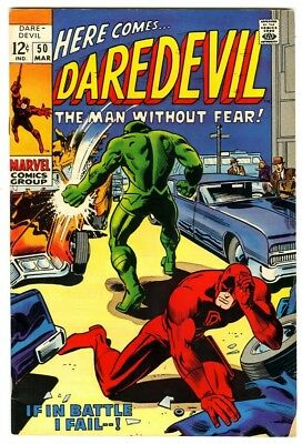 Daredevil #50 (1969) Fine+ New Marvel Silver Bronze Collection