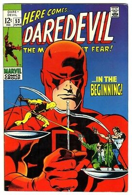Daredevil #53 (1969) VF- New Marvel Silver Bronze Collection