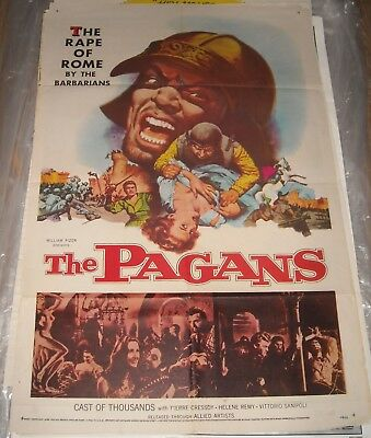 1958 The PAGANS 1 SHEET MOVIE POSTER HELENE REMY PIERRE CRESSOY ACTION