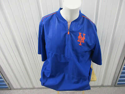Majestic New York Mets Therma Base Warm-Up Blue/orange Xl Jersey/ Pullover