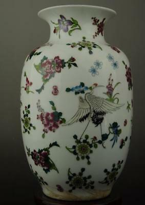 Old china antique hand-made famille rose porcelain vase /yongzheng mark c01