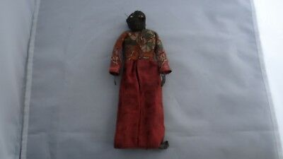 Rare Antique Authentic Unusual Hand Made Primitive Woman Carved Head Voodoo Doll