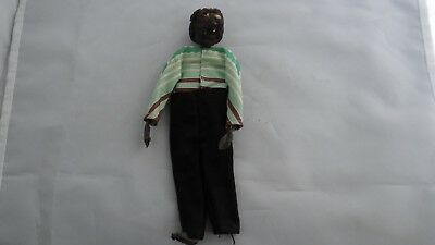Rare Antique Authentic Unusual Hand Made Primitive Man Carved Head Voodoo Doll