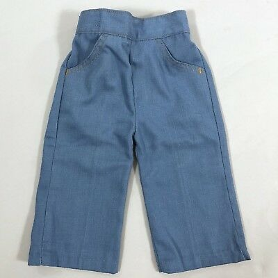 Vintage 70s Billy the Kid Baby Jeans Pants Blue Size 12 Months Unisex Boy Girl