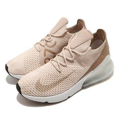 5f69e5a02 Nike Wmns Air Max 270 Flyknit Guava Ice Particle Beige Women Shoes  AH6803-801