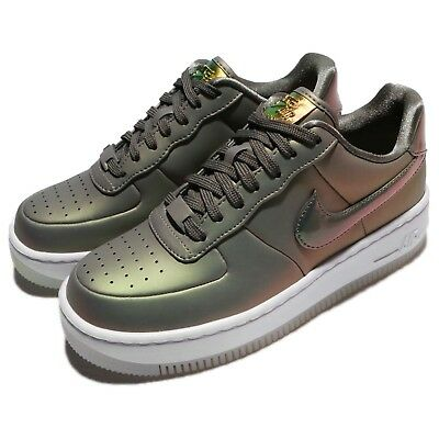 half off 8265d b0ccc Nike Wmns AF1 Upstep PRM LX Air Force 1 Dark Stucco Lux Women Shoes AA3964-