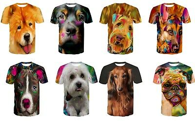 Sleek 3D Double side printed T-shirt with cute dog design