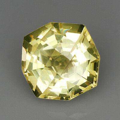 "4.9Ct Lemon Citrine ""Shining-Space"" Precious Faceting MQLC250"