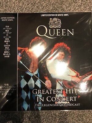Queen -  Greatest Hits In Concert TOKYO Live 1985 -  New LTD EDT WHITE Vinyl LP