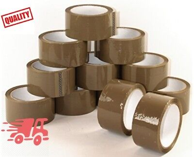 1 ROLL BROWN BUFF PACKAGING PARCEL TAPE 48mm x 66m