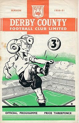 Derby County v West Brom (FA Cup) 1950/1 - Football Programme