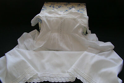 B'ful Antique Victorian/edwardian Richly Hand Embroidered Long White Baby Gown