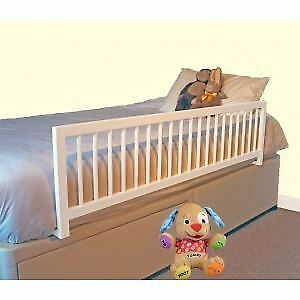 Safetots White  Wooden Extra Wide bedrail bed Safety childrens Bed Guard RETURN