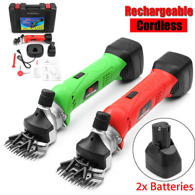 200W Electric Horse Sheep Clipper W/ 2 Battery Animal Grooming Shearing Cutting