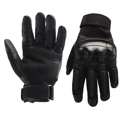 Motorcycle Touch Screen Rubber Hard Knuckle Leather Full Finger Gloves SY