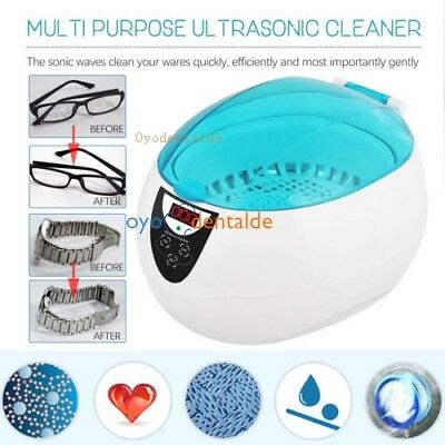 0.75L Ultraschallreiniger Ultraschall Schmuck Reiniger Dental Brille Münze CD