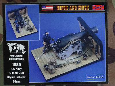 VERLINDEN PRODUCTIONS #1889 North & South US Navy 9inch Gun w/Figure in 1:32
