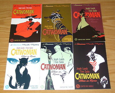 Catwoman: When in Rome #1-6 VF/NM complete series - jeph loeb - tim sale set lot