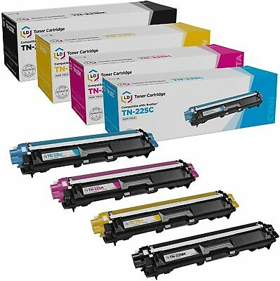4Pk TN221 Black TN225 Color Toner For Brother MFC-9130CW MFC-9330CDW MFC-9340CDW