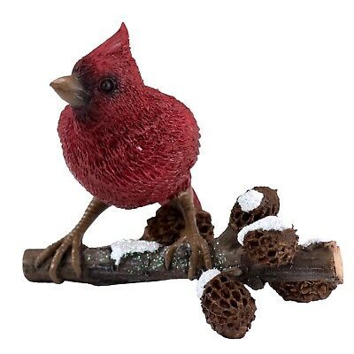 "Little Cardinal On Tree Branch Figurine 2.75"" High New In Box!"