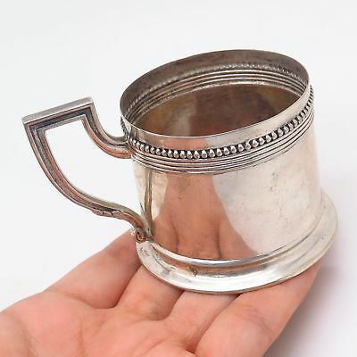 Antique German Empire Gebrüder Kühn 800 Silver Tea Glass Holder