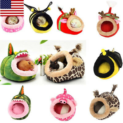 US Mini Animal Soft Bed Hamster Rat Guinea Pig House Pet Hammock Nest Pad