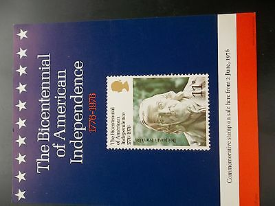 Royal Mail A4 Post Office Poster 1976 Bicentennial Of American Independence