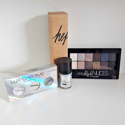 Beauty Paket hej Organic Catrice Lux Chrome  Maybelline The Rock Nudes