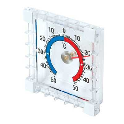 Stick On Indoor Outdoor Thermometer Garden Room Inside Outside Temperature New