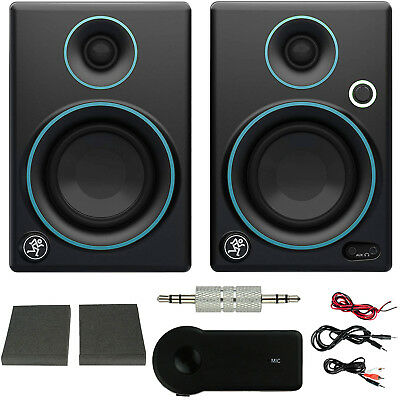 """Mackie CR3 3"""" Creative Reference Monitors (Pair) Blue + Bluetooth Audio Receiver"""