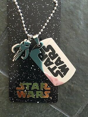 Disney Stainless Steel Star Wars Force Awakens Dog Tag Necklace New