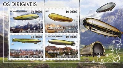 St Thomas - Dirigibles - Sheet of 4 Stamps ST8402a