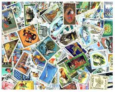 Mongolia Stamp Collection - 500 Different Stamps