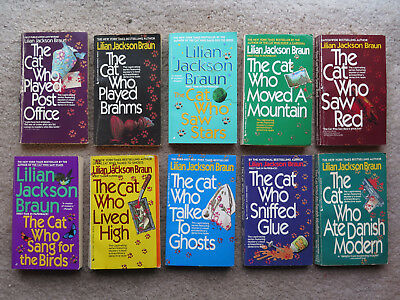 Liliam Jackson Braun paperback Cat Who book lot Saw Red Stars LIved High MORE