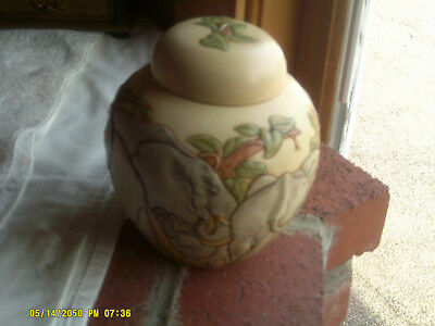 Harmony Ball Jardinia on Safari Elephants Cachepot/Urn No Box (*)