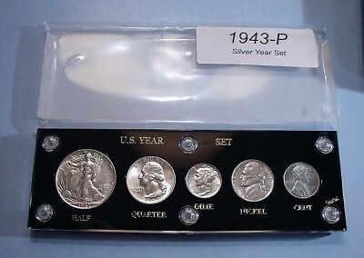 1943 WAR TIME SILVER SET of U.S. COINS NEAR MINT to MINT BRILLIANT UNCIRCULATED