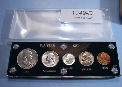 1949-D SILVER SET of U.S. COINS APPEARS FULLY BRILLIANT UNCIRCULATED NICE SCARCE