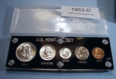 1953-D MINT SILVER SET of U.S. COINS LUSTROUS BRILLIANT UNCIRCULATED SUPER NICE