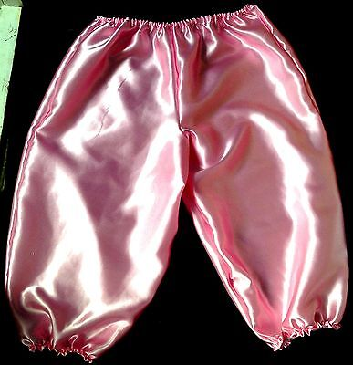 french maid pantaloons cosplay sissy adult baby satin fetish 36-46 bloomers pj