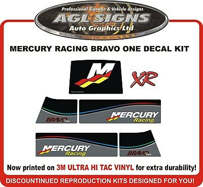 Mercury Racing Bravo One XR New Gen Outdrive Reproduction Decal Kit  Mercruiser